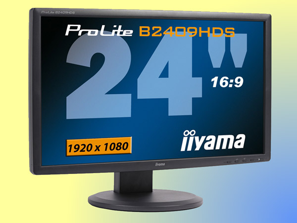 24 inch LCD Flatpanel, Iiyama B2409HDS, widescreen, Full HD