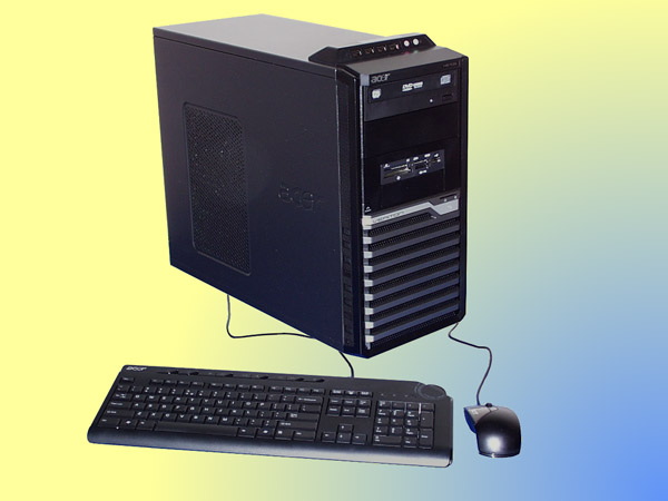 Core2Quad-2,5 Ghz, Acer Veriton M670G, midi tower PC (GeForce GT230)