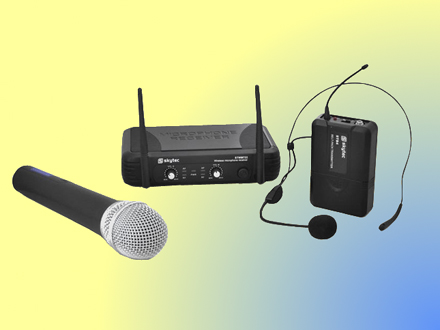 Wireless microphone and headset